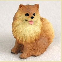 POMERANIAN (RED) TINY ONES DOG Figurine Statue Resin Pet Lovers - $8.99