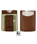 DELUXE MAGNET MONEY CLIP & CARD HOLDER - 4 Leather Colors AMISH HANDMADE... - $39.97