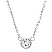 """PIATELLA Stainless Steel Solitare necklace adorned with Swarovski Crystal 18"""" - $13.99"""