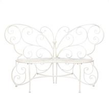 White Butterfly Garden Bench - $187.00