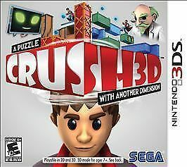 Primary image for Crush3D for Nintendo 3DS, 2012, pre-owned but in Excellent condition