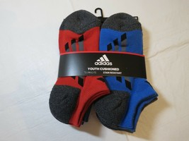 Adidas Youth Cushioned Climalite Stain Resistant Socks No Show 6 Pair 13C - $21.26