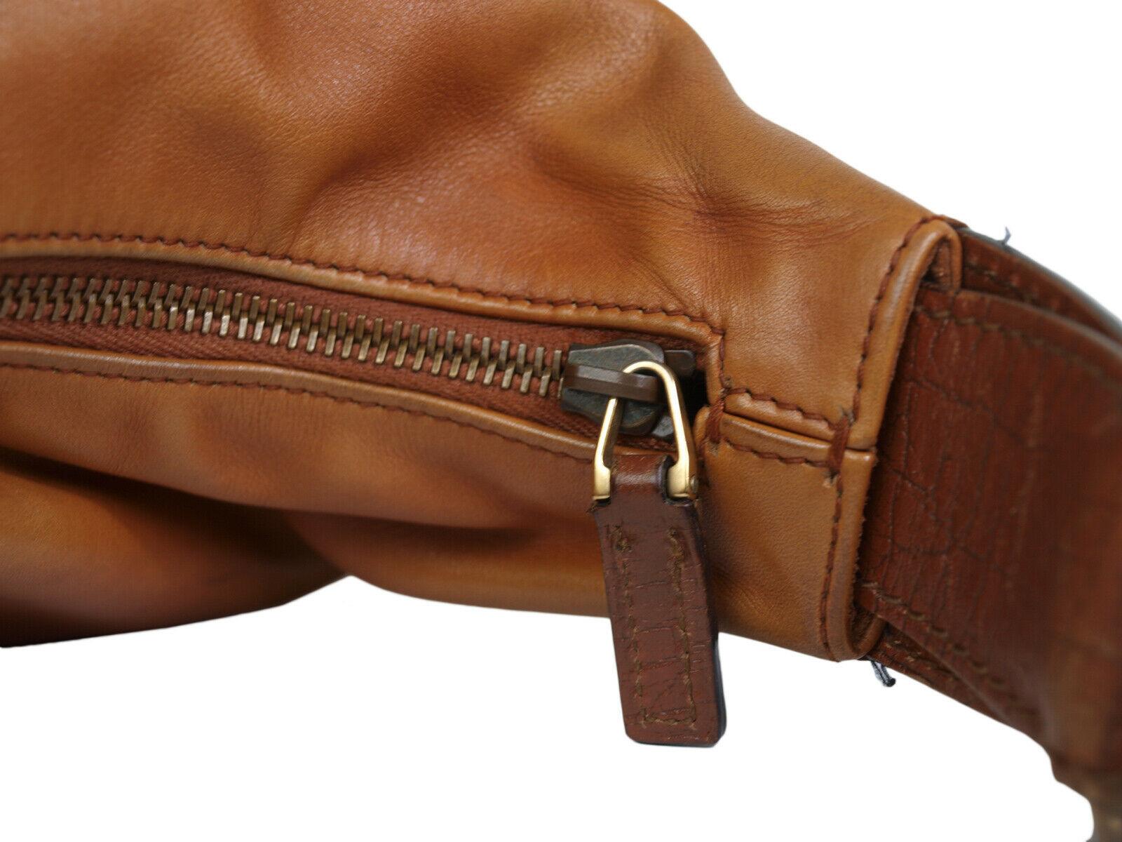 Authentic GUCCI Leather Brown Shoulder Bag GS10013L