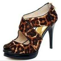 Michael Kors Penley studded driver leopard animal - $52.47