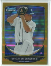 JONATHON CRAWFORD GOLD REFRACTOR RC SER# 26/50 2013 Bowman Chrome Draft ... - $6.49