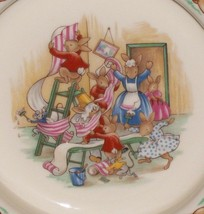 Royal Doulton Bunnykins- Baby Plate /Child's Bowl -Home Decorating Wallpaper EUC image 2