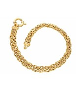 Bracelet Yellow Gold 18K, Jersey King Chain Rounded, thickness 6 mm, 19 cm - $1,513.04