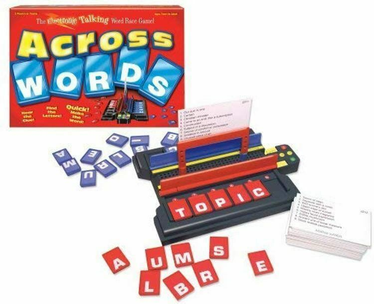 Primary image for Across Words Electronic Wood Race Game - New / Sealed