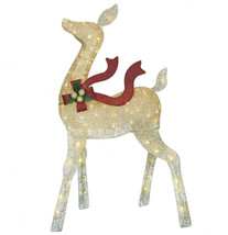 Christmas lighted display 52IN LED GOLD DOE seasonal O17 - $296.99