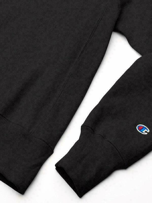 Champion Life Reverse Weave Sweatshirt Black Men's Medium Crew Neck Long Sleeve image 4