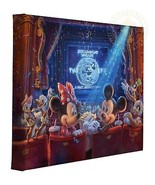 Thomas Kinkade Studios Disneys 90 Years Of Mickey 11 X 14 Verpackt Leinen - $77.32