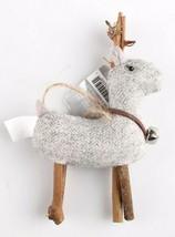 Wondershop 4 count Birchwood Bay Fabric Reindeer Ornament Set NEW w Tags image 2