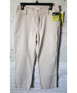 NWT Lee Just Below The Waist Straight Leg Dress Pants Beige Size 12M Casual - $9.42