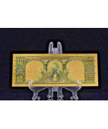 PRECISE DETAIL~GOLD~1901 UNC. $10 DOLLAR BISON Rep*Banknote~ - $12.99