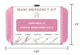 Trim Black Pink Nail Mani Emergency Grooming Kit Clippers Scissor Tweezer File image 6