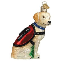 Service Dog Christmas Holiday Ornament Glass - $43.76