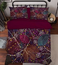 3D Leaves 231 Bed Pillowcases Quilt Duvet Cover Set Single Queen King Size AU - $64.32+