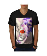 Lady Bug Flower Nature Shirt Beautiful Nature Men V-Neck T-shirt - $12.99+
