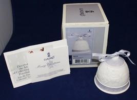 "LLADRO 1993 Porcelain Christmas Bell with Purple Ribbon ""Daisa"" in Origi... - $9.90"
