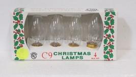 J Hofert 1435 Clear C9 Northern Lights Christmas Lamps 4 Bulbs Packaged image 1