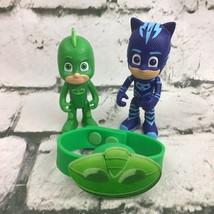 Disney Jr PJ Masks Action Figures Catboy Gekko PVC Bracelet Toys Lot - $11.88