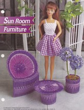 Sun Room Furniture, Annie's Fashion Doll Plastic Canvas Pattern Leaflet ... - $2.95