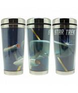 Star Trek: The Original Series Enterprise 16 oz Metal Full Color Travel ... - $23.21