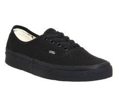 Vans Unisex Authentic Core Classic Sneakers (13 D(M), Black/Black) - $48.20