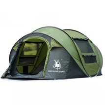 Green Outdoor Automatic Throw Tent Waterproof Camping Hiking Family Tent - $149.95
