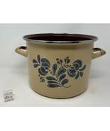 "Pfaltzgraff USA ""Folk Art"" Enamel Cook Pot / Cooker / Stove Top - Used, No Lid - $21.99"