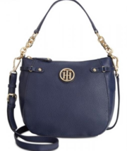 NWT Tommy Hilfiger Sadie Pebbled Leather Crossbody Purse in Navy MSRP $118 - $69.99