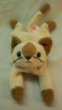 "Ty Beanie Babies Snip The Tan & Brown Cat 8"" Stuffed Animal Toy 1996 - $14.85"