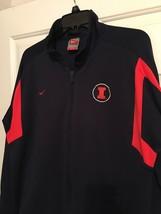 Nike Dri Fit Illinois Fighting Illini men's track jacket size L navy blue - $27.99