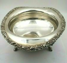 New Beverly Manor Wilcox International Silverplate Bowl w/ Floral Grapes... - $39.00
