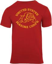 Red Marines Bulldog T-Shirt USMC Military Bull Dog Tee US Marine Corps - $15.99+