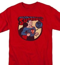 Superman T-shirt Man Steel DC comic book Batman superhero cotton red tee DCO750 image 1