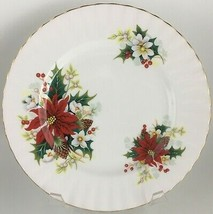 Royal Albert Poinsettia Salad plate Factory 2nd quality - $12.00