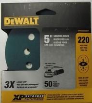 """Dewalt DWAS58220CP 5"""" 220 Grit Sanding Discs 5 or 8 Hole H&L Backing 50 ... - $10.89"""