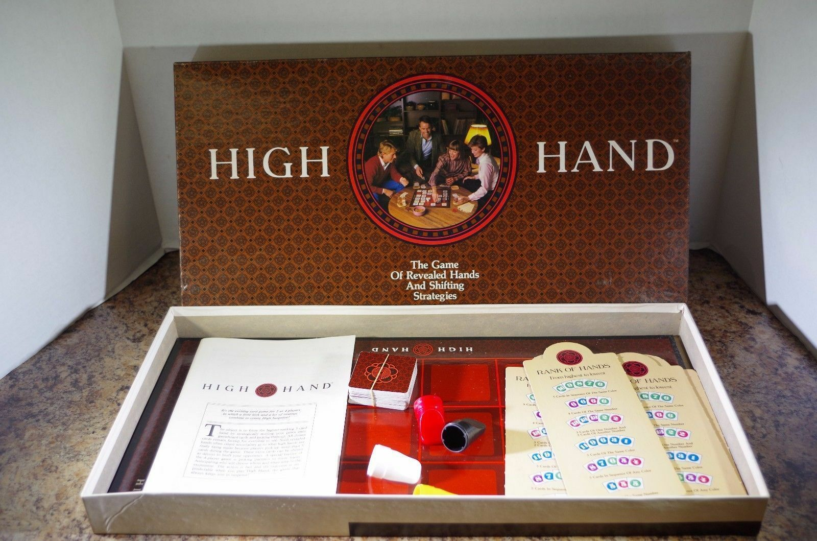 Primary image for High Hand board Game-1984-Milton Bradley-Complete Complete