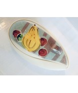 MCM Teardrop Shape Covered Candy Dish Bowl Wales Japan Painted China Fruit - £8.22 GBP