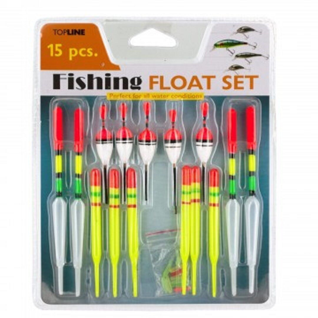 15-Piece Fishing Floats Set - One Item