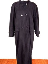 Talbots Womens Trench Coat 10 Black Removable Lining Double Breast Full ... - $49.49