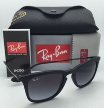 New Ray-Ban Sunglasses RB 4221 622/8G 50-19 Black Rubber Frame w/ Grey Gradient