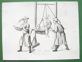 CHINA Street Punishements !! Antique Print 2 - $19.09