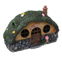 New Solar LED Decorative Light Small Fairy House Lawn Roof Outdoor Waterpr - £29.82 GBP