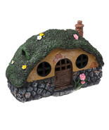 New Solar LED Decorative Light Small Fairy House Lawn Roof Outdoor Waterpr - £30.61 GBP