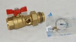 Bianchi F lli 422MC0060F MF Brass Ball Valve PN25 Pipe Union Oring Thermometer image 1