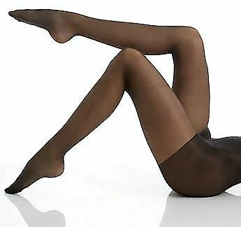 Hue BLACK Essential Solutions Age Defiance Control Top Pantyhose, 3-Pack, Size 3