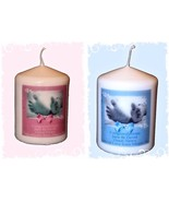 New Baby Boy or New Baby Girl personalised Candle gift Birth keepsake - $10.88