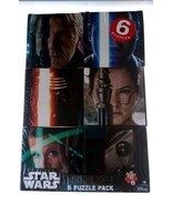 Star Wars 6 Puzzle Pack - New & Sealed - Age 6+ - 6 x 100 Piece Puzzles ... - $15.99